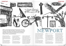 Destination Newport feature. Style of Wight Issue 13: November/December 2011