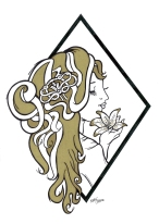 Art Nouveau Inspired Logo for hair salon Andrew Ross, as part of a rebranding of the business.