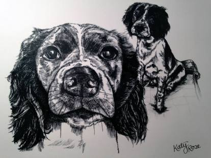 Pen and Ink Pet Portrait