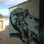 I was commissioned by the fabulous Ventnor Fringe Festival to hand paint a giant octopus onto the Observatory Bar overlooking Ventnor Seafront.