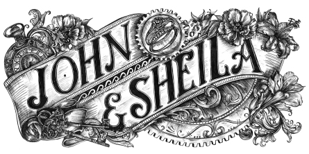 I loved creating a steampunk wedding invitation for Sheila and John!